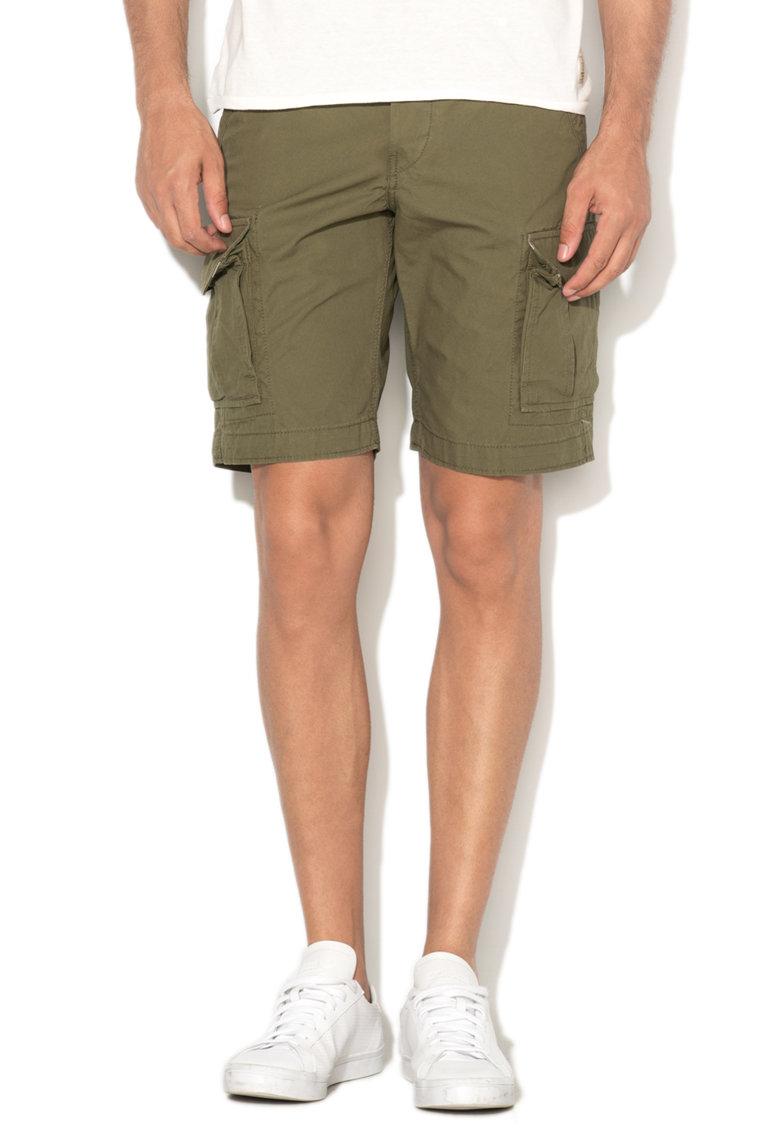 JackJones Pantaloni scurti cargo comfort fit verde militar Preston