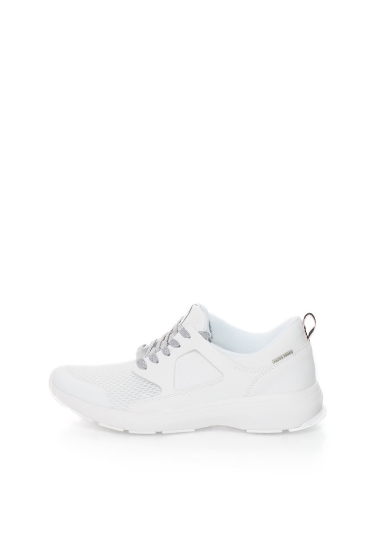 JackJones Pantofi sport slip-on albi cu insertii din plasa Whatton