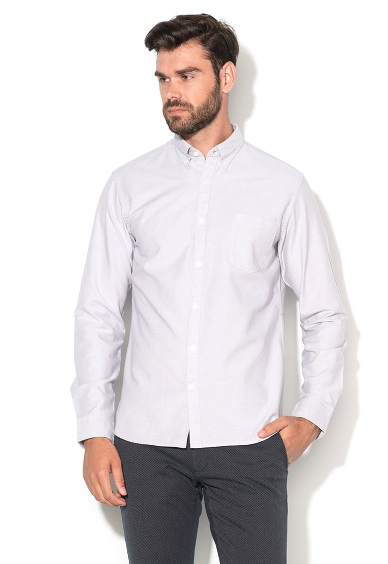 Camasa regular fit gri deschis melange Collect de la Selected Homme