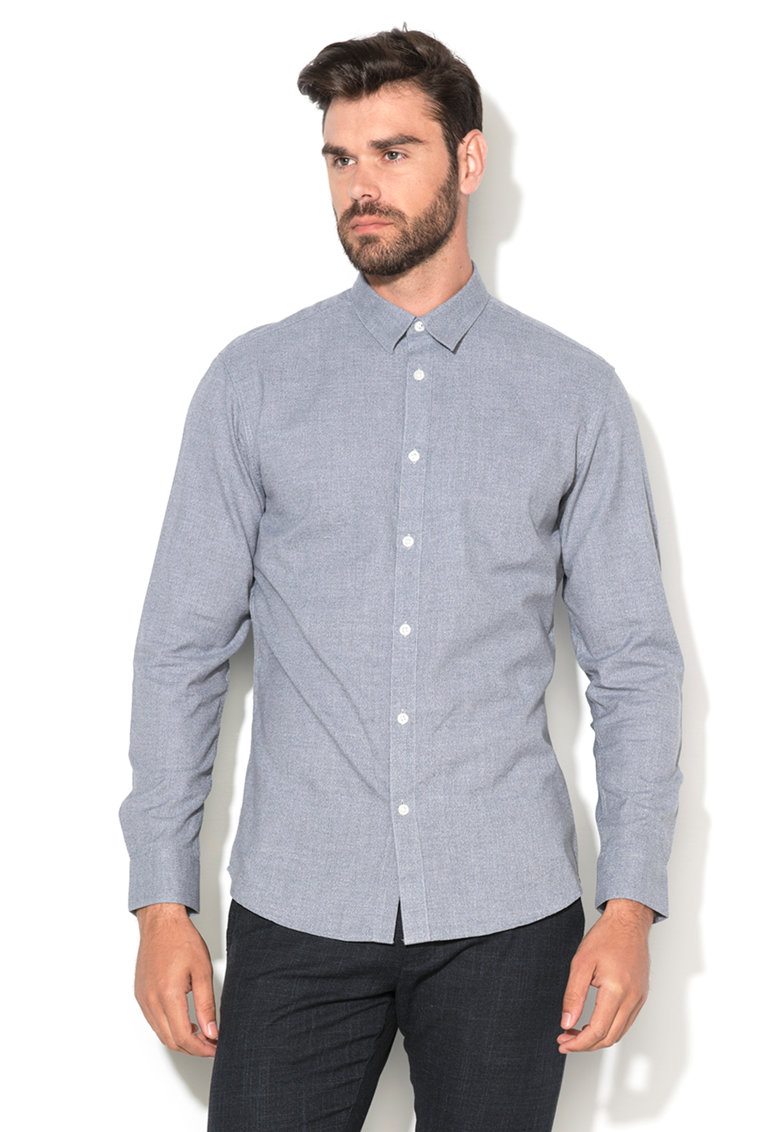 Selected Homme Camasa slim fit bleu melange Twist