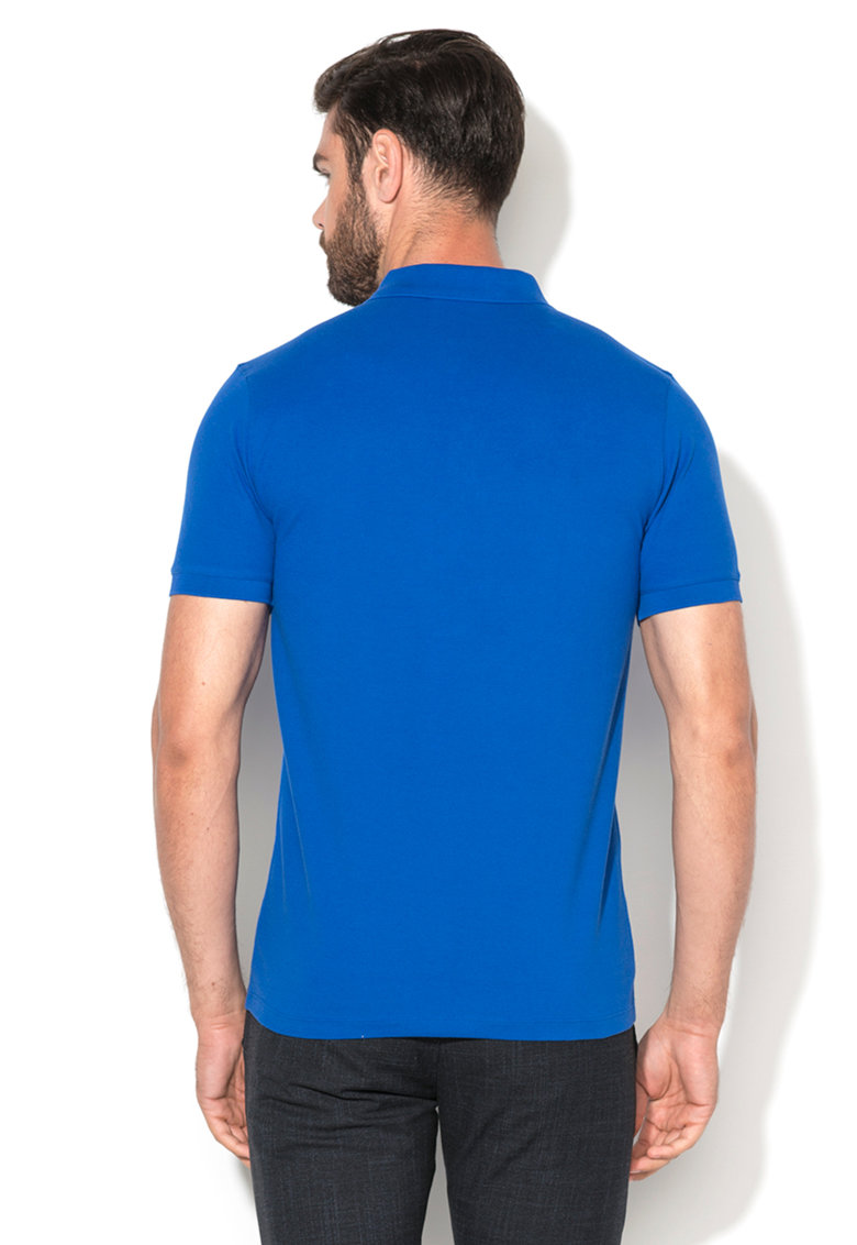 Tricou polo albastru electric Damon Selected Homme