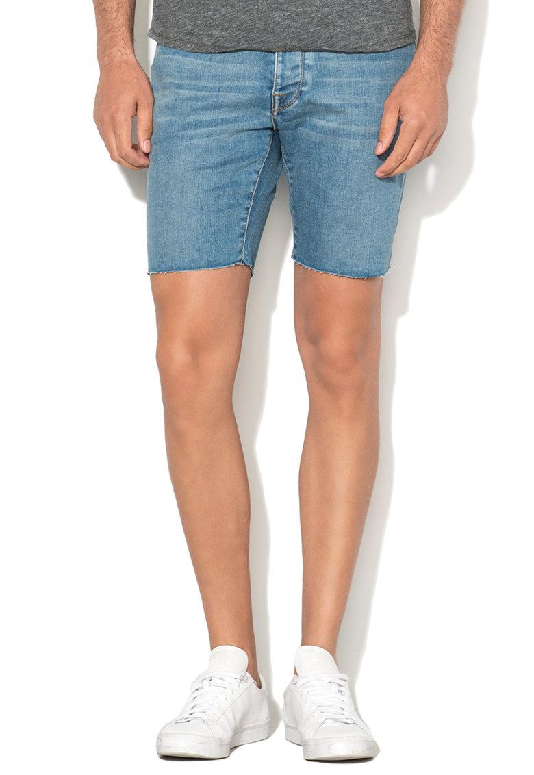 Pantaloni scurti albastri regular fit din denim Toby de la Selected Homme