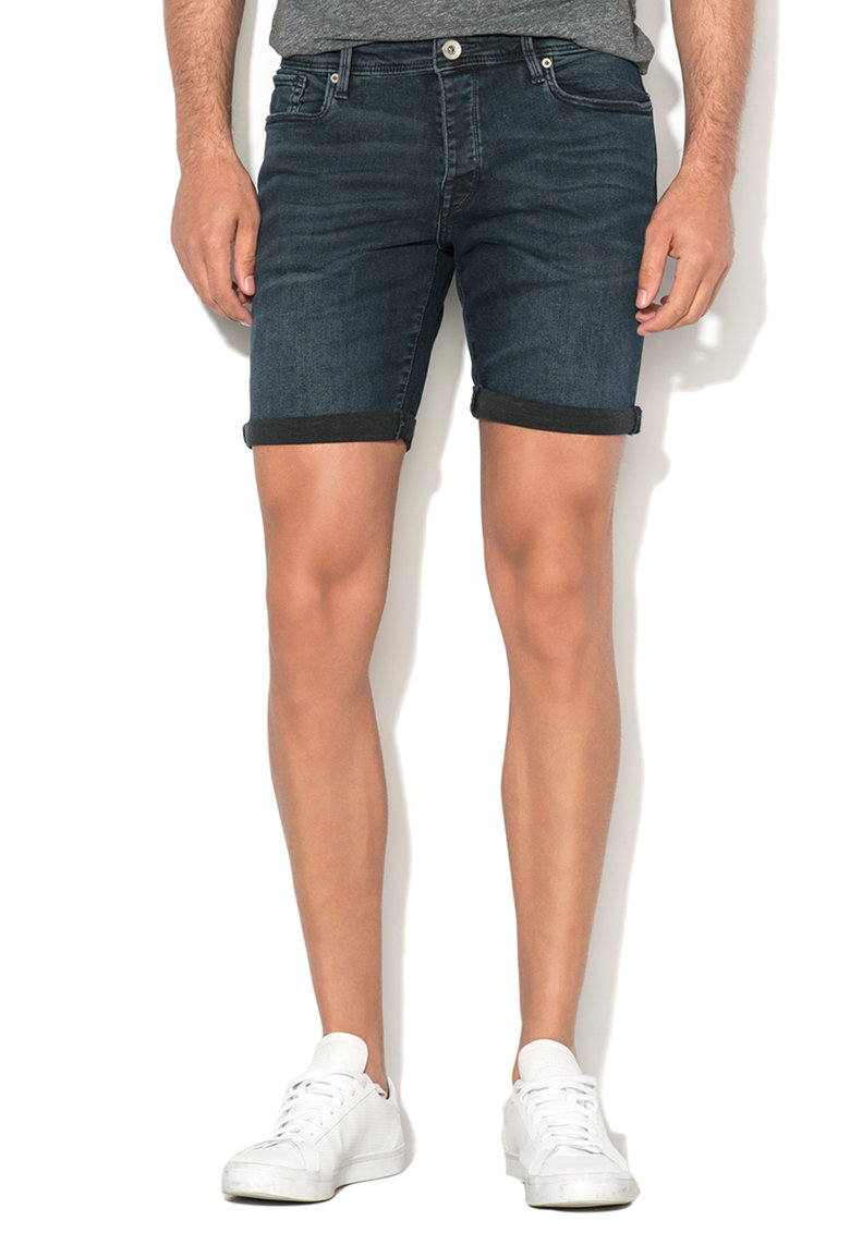 Pantaloni scurti bleumarin inchis regular fit din denim Alex de la Selected Homme