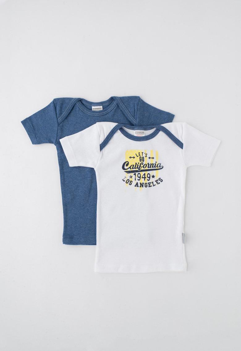 Absorba Set de tricouri alb cu albastru melange – 2 piese