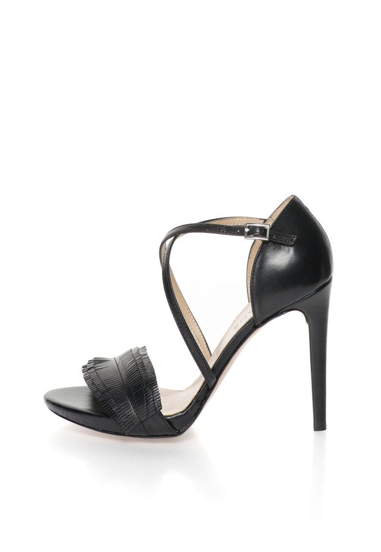 Zee Lane Sandale negre de piele Alaska