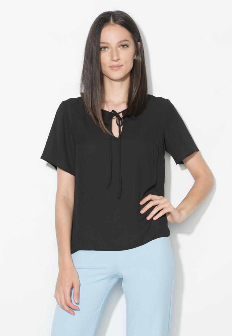 Zee Lane Collection Bluza neagra cu croiala lejera
