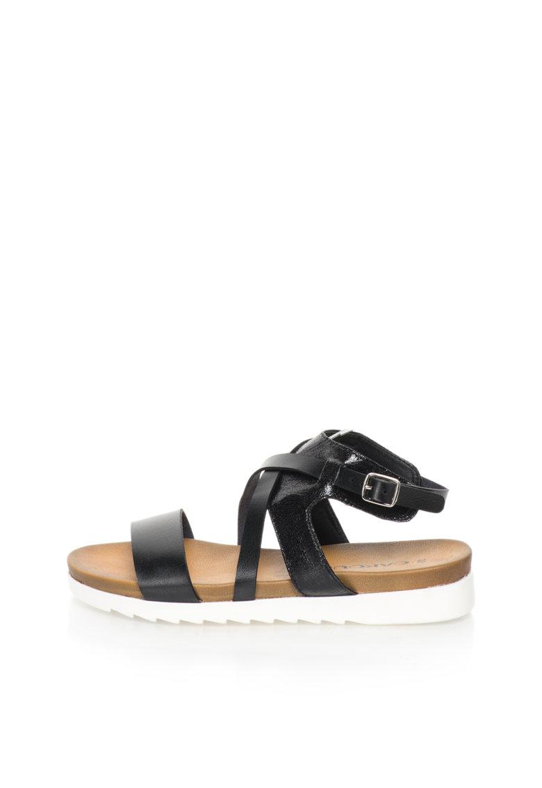 Sandale negre cu barete multiple de la Oakoui