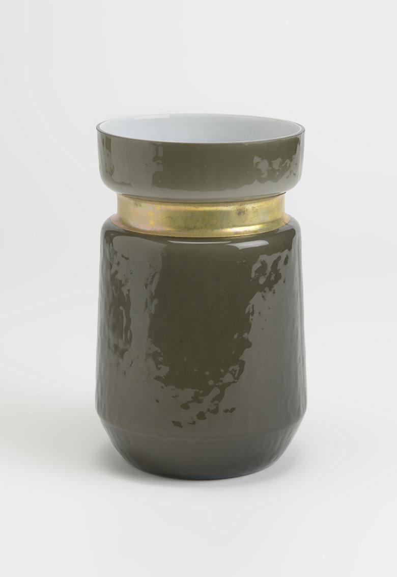 Vaza gri inchis cu insertie de cupru - 700 ml