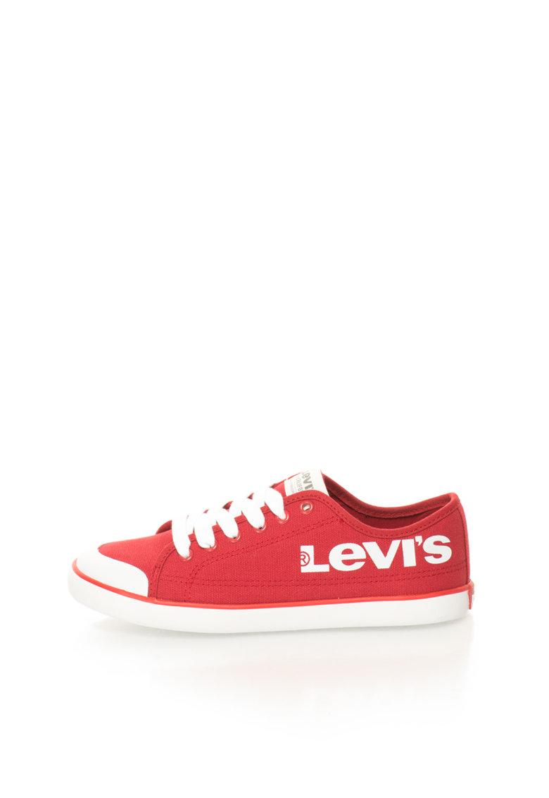 Levis Tenisi rosii de panza cu logo