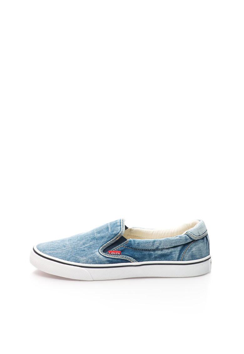 Levis Pantofi slip-on albastri din denim