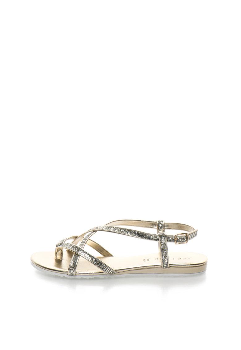 Sandale cu aspect stralucitor