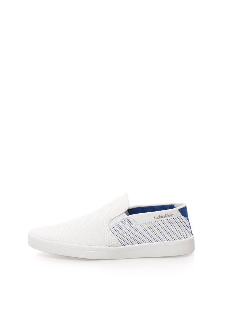 Calvin Klein Pantofi slip-on albi Ives