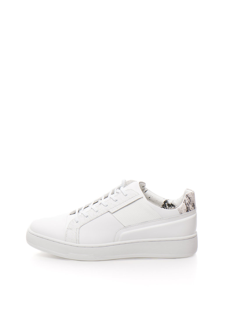 Calvin Klein Pantofi sport albi de piele Nickson