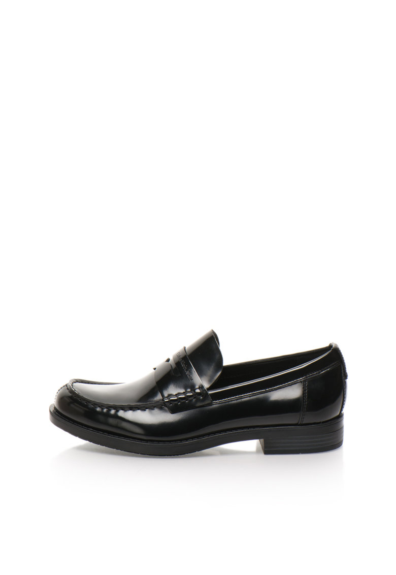 Calvin Klein Jeans Pantofi loafer negri cu finisaj neted Yonah