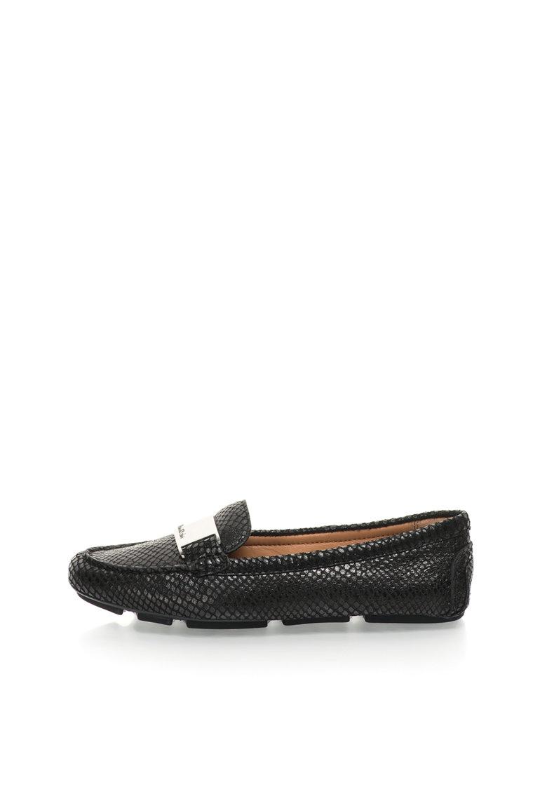 Calvin Klein Pantofi loafer negri de piele Lassey