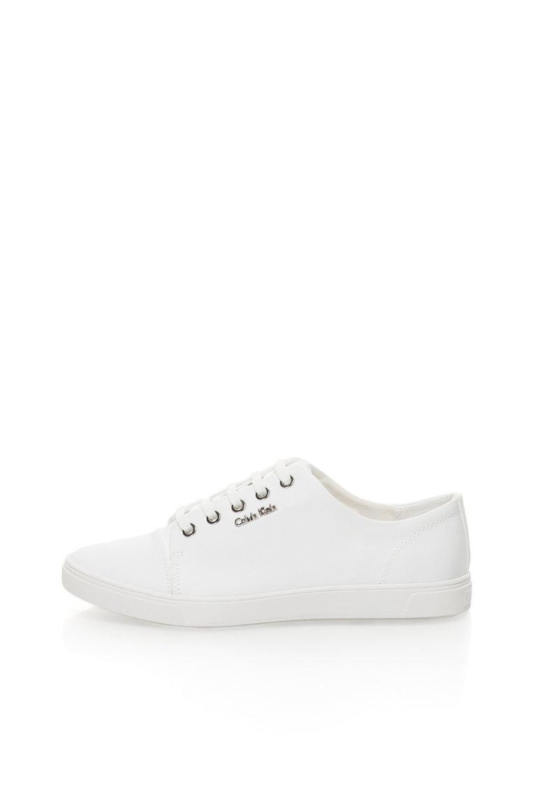 Calvin Klein Pantofi sport albi cu aplicatie logo Hamilton