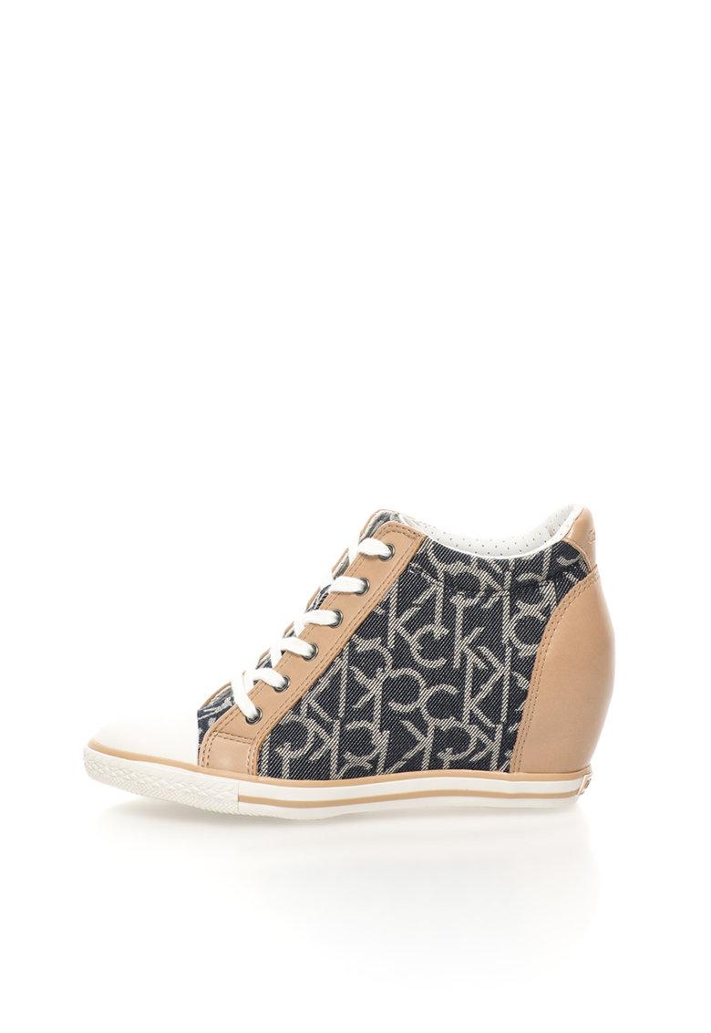 Calvin Klein Jeans Pantofi sport wedge inalti multicolori cu platforma ascunsa Vero