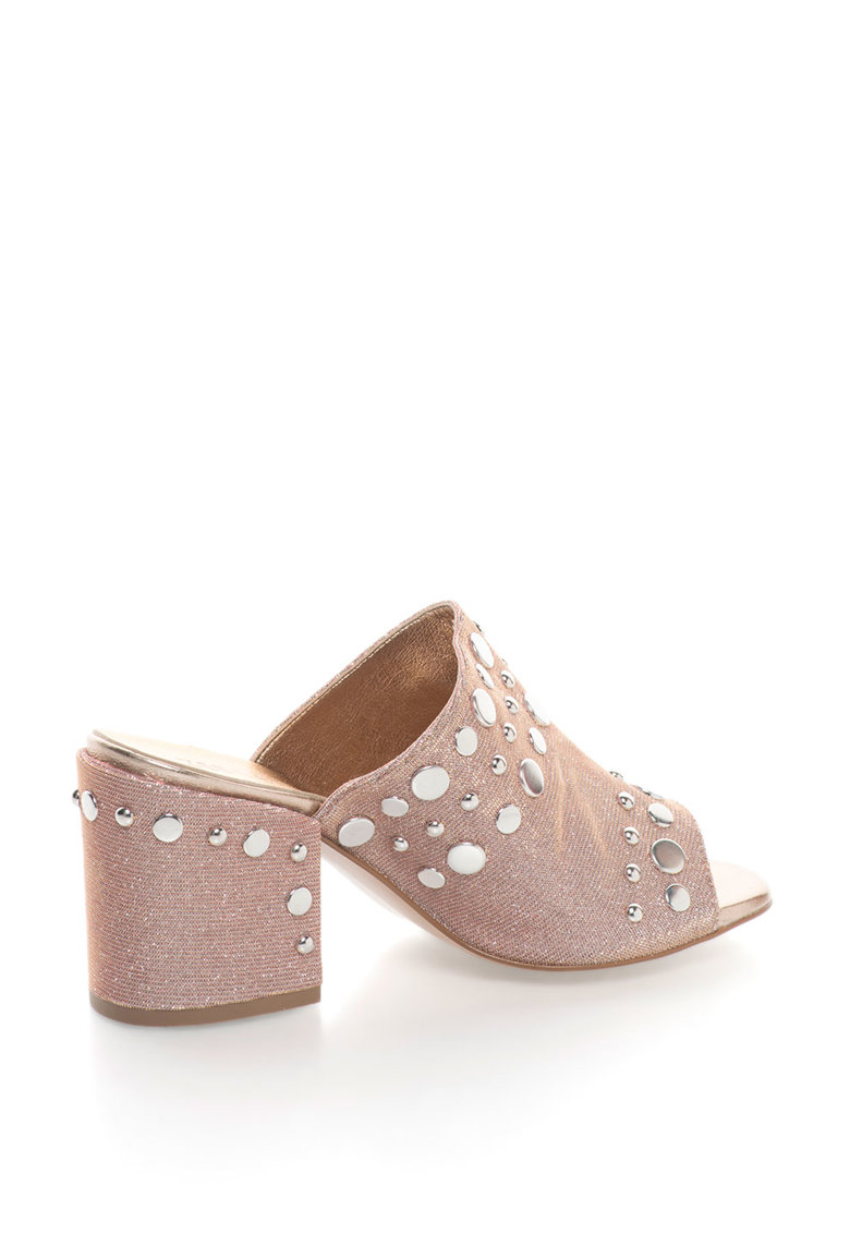 Zee Lane Sandale slip-on cu nituri metalice Rosa