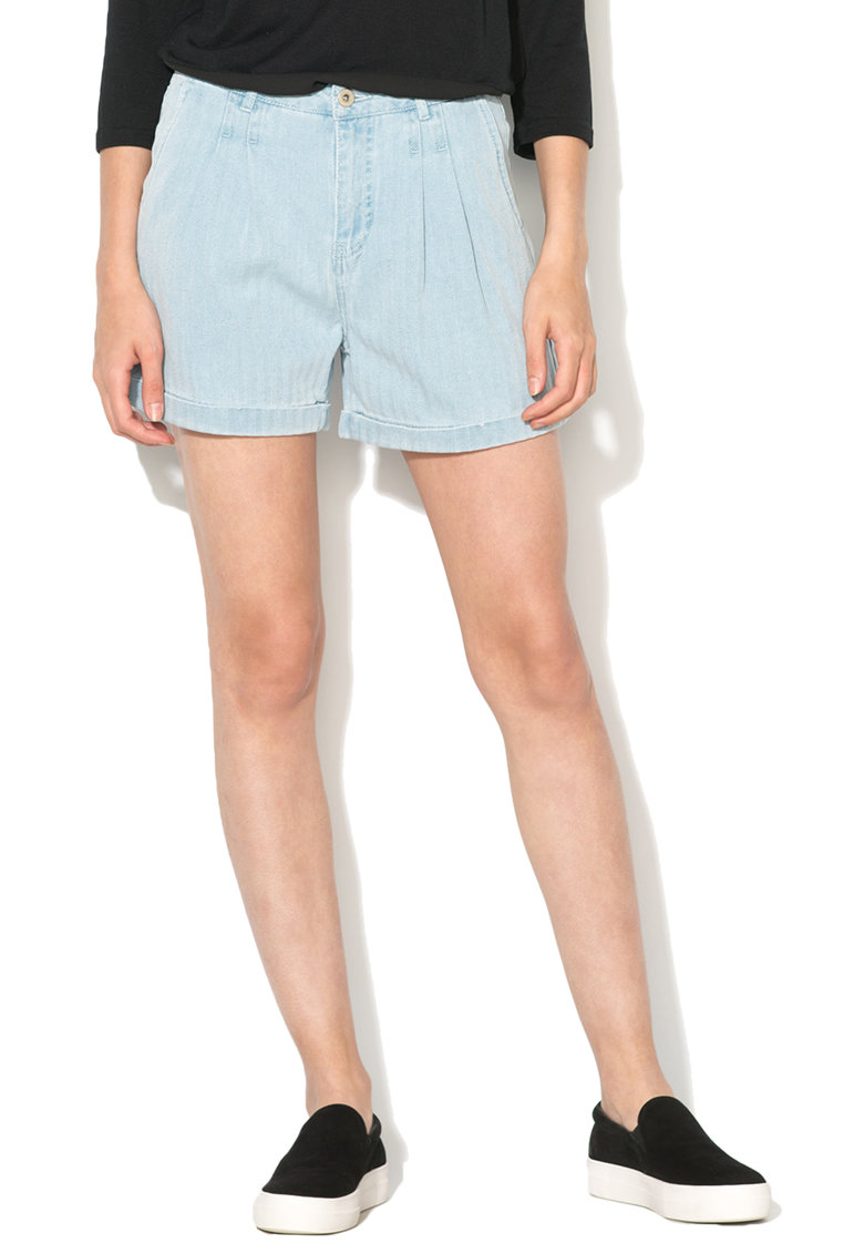 Pantaloni scurti bleu din denim Aura de la Vero Moda 10169830-LIGHT-BLUE-DENIM
