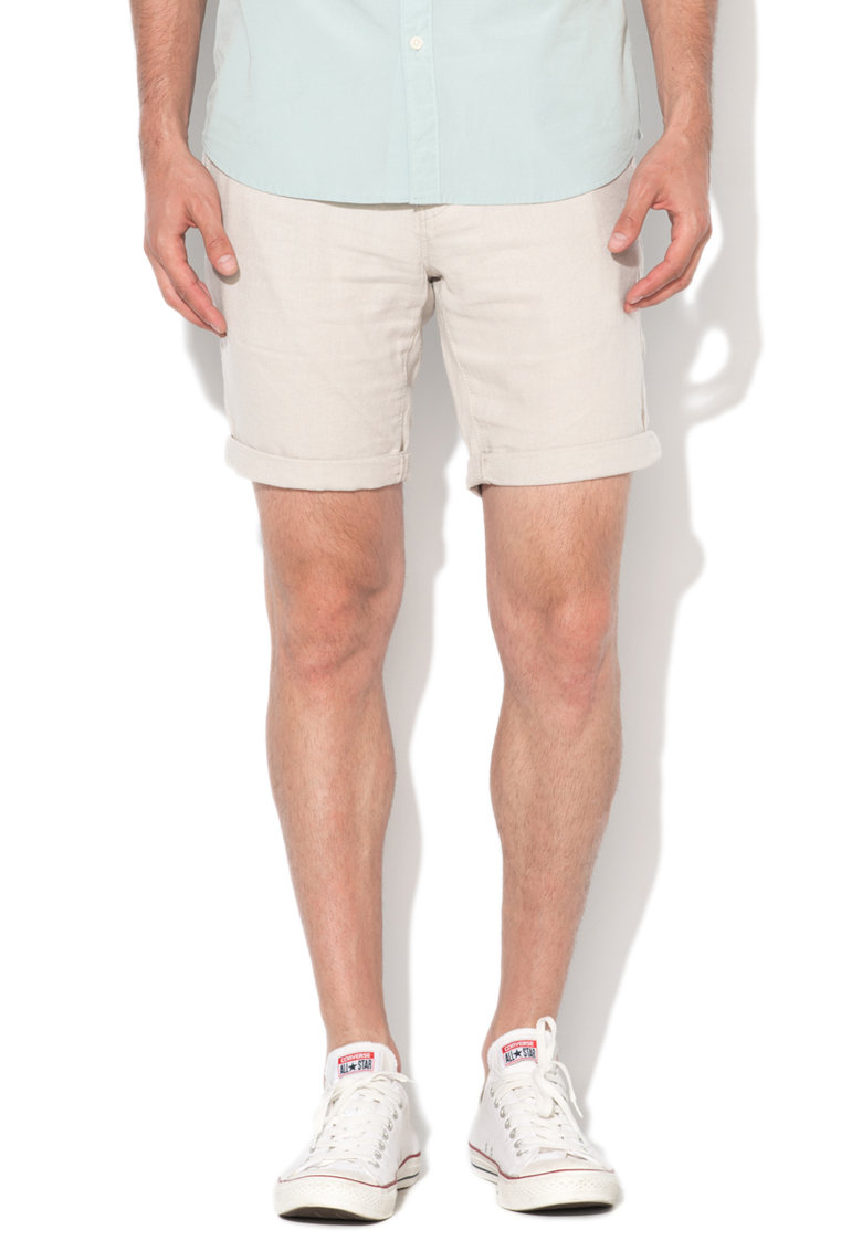 Bermude regular fit chino grej din amestec de in Pari de la Selected Homme