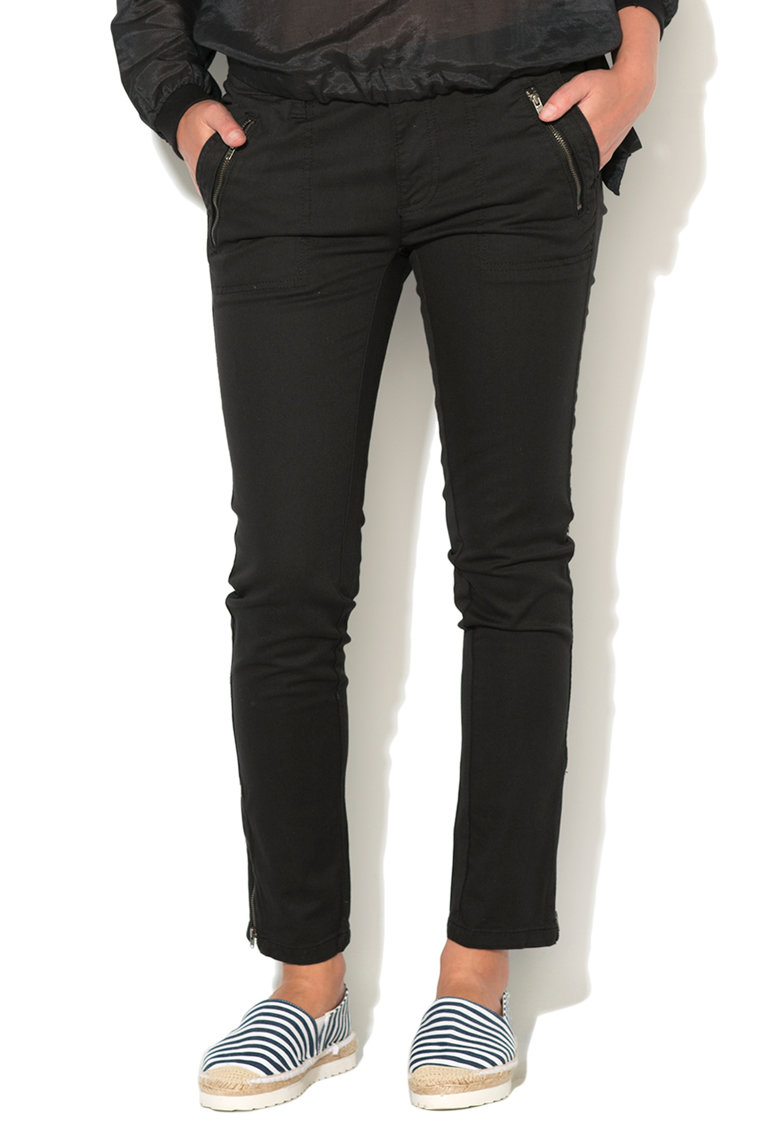 Big Star Pantaloni slim fit conici negri Slavia