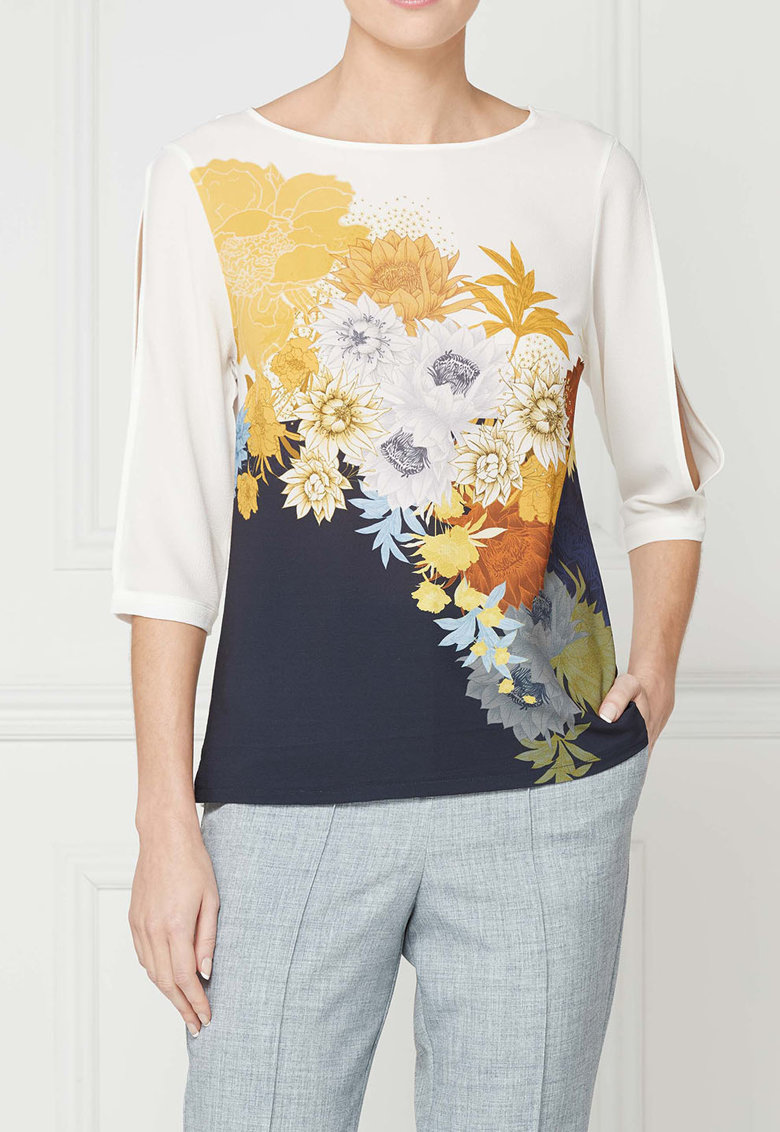 NEXT Bluza multicolora cu decupaje pe maneci