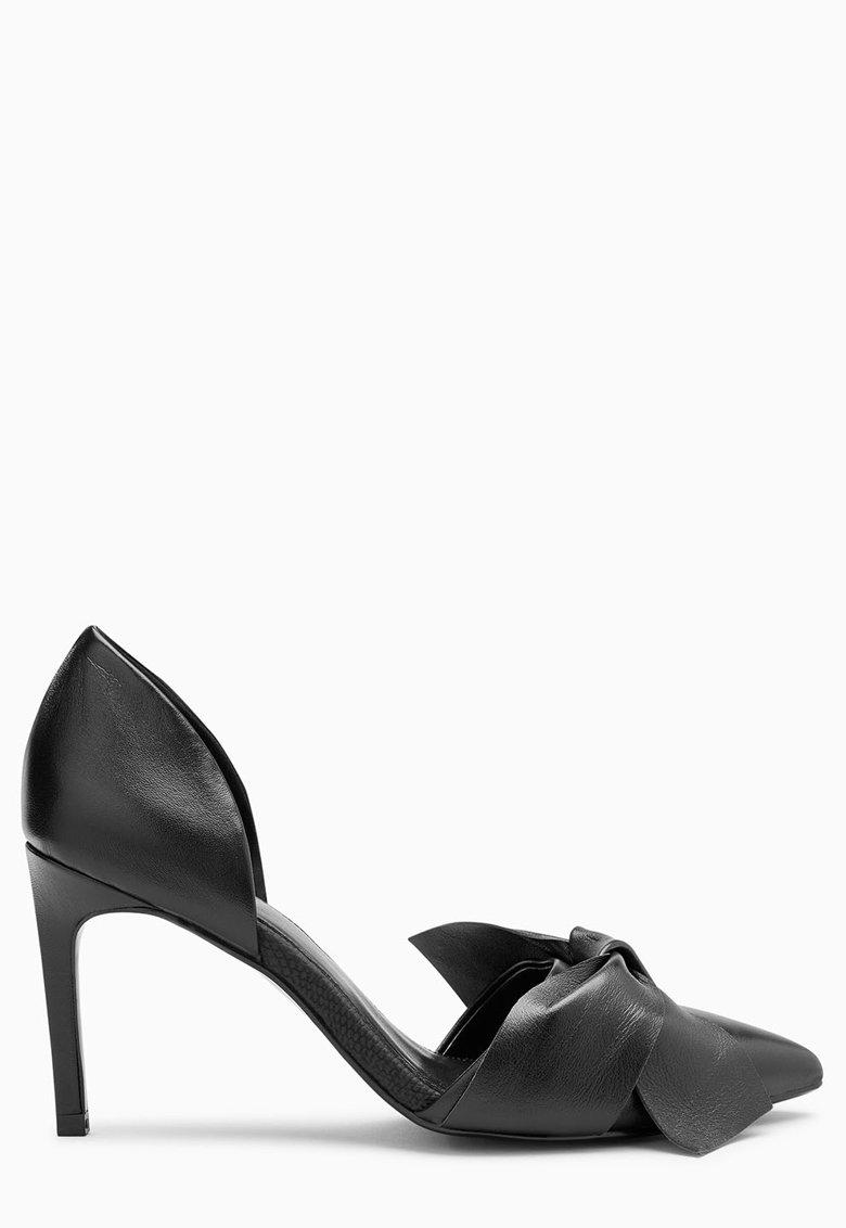 NEXT Pantofi d'Orsay negri cu toc stiletto