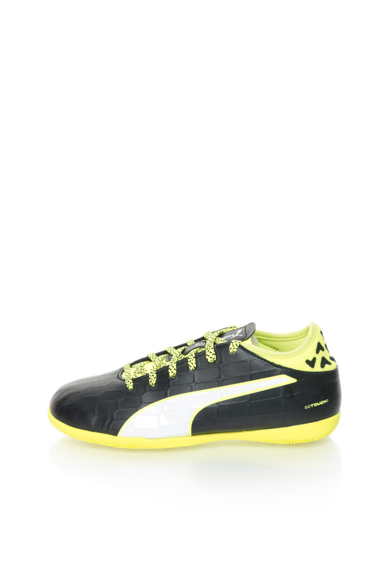 Pantofi sport negru cu galben neon Evotouch3