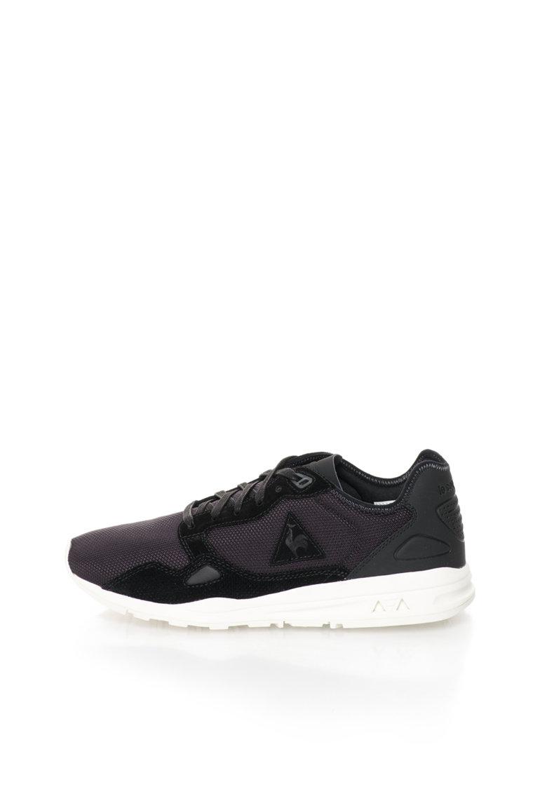 Le Coq Sportif Pantofi sport negri cu garnituri de piele intoarsa LCS