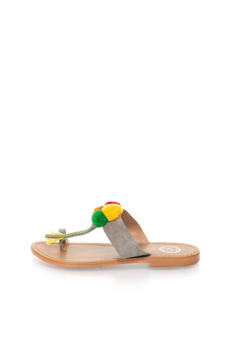 WHITE SUN Papuci flip-flop multicolori cu bareta separatoare