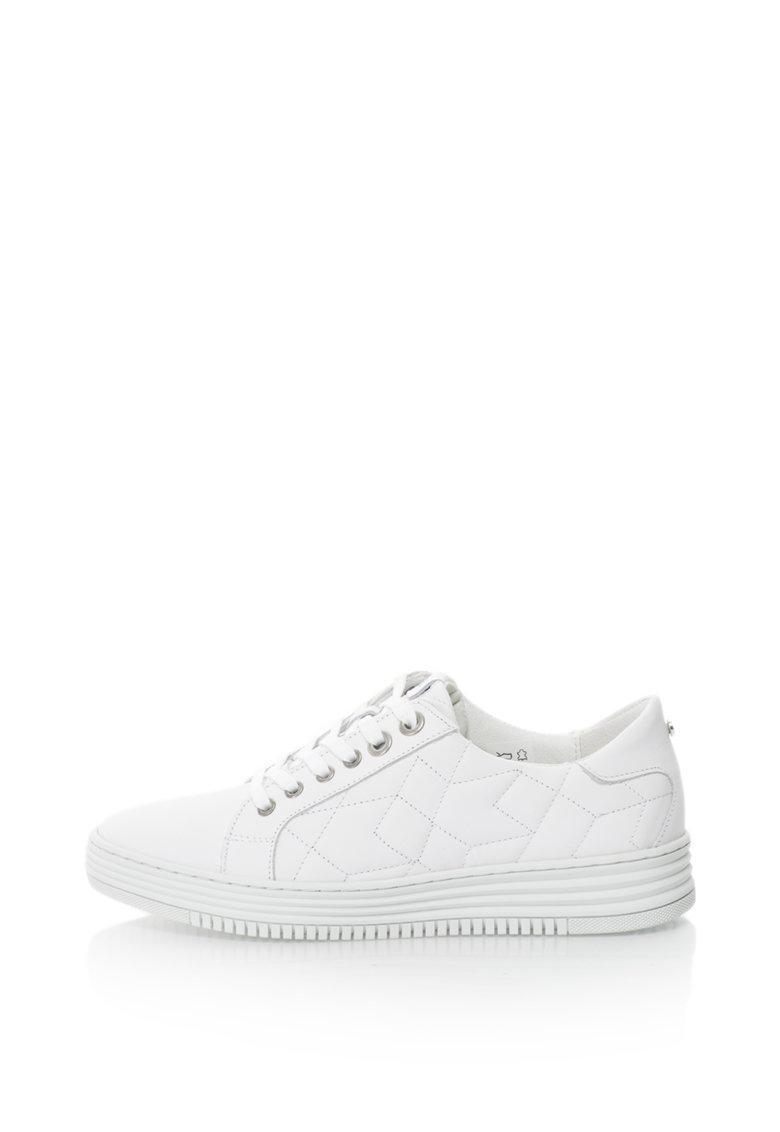 Pantofi De Piele Cu Sireturi