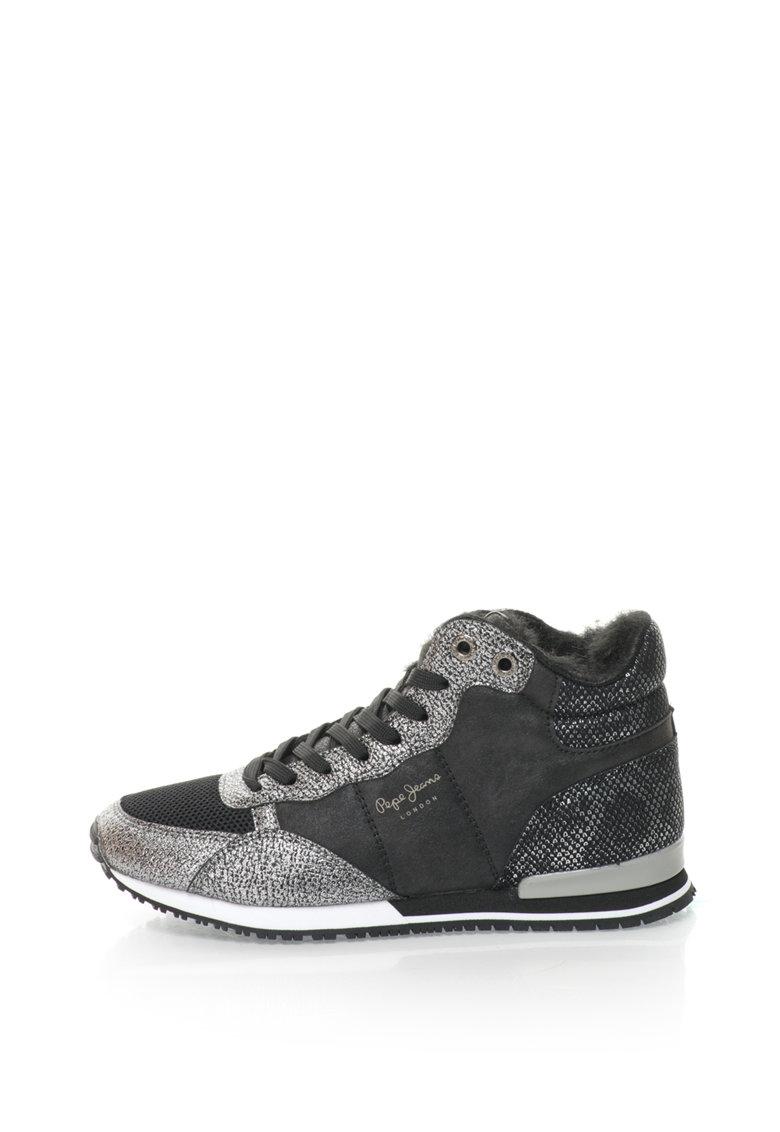 Pantofi sport inalti cu captuseala de blana sintetica Gable de la Pepe Jeans