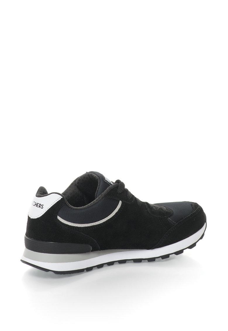 Skechers Pantofi sport de piele intoarsa si plasa Classic Kicks