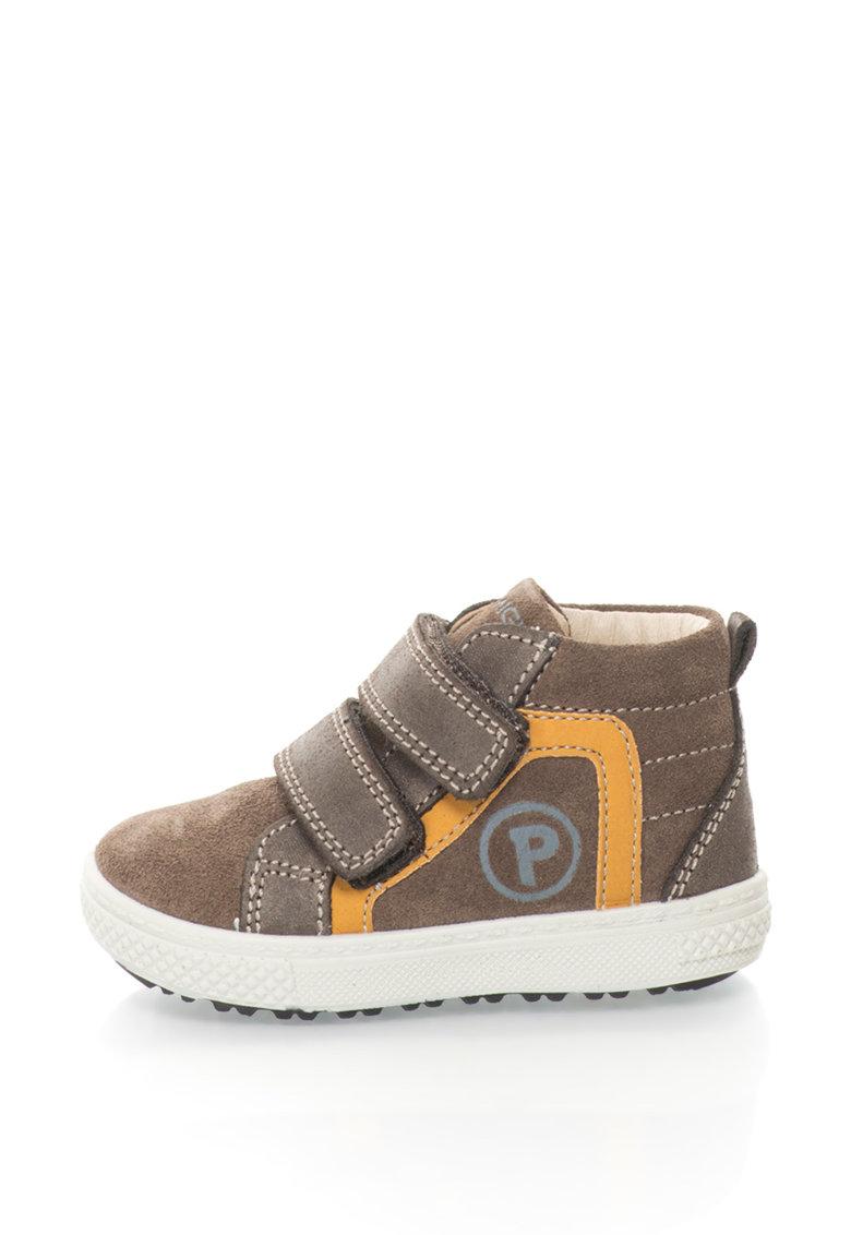 Primigi Pantofi sport de piele intoarsa cu garnituri de piele nabuc