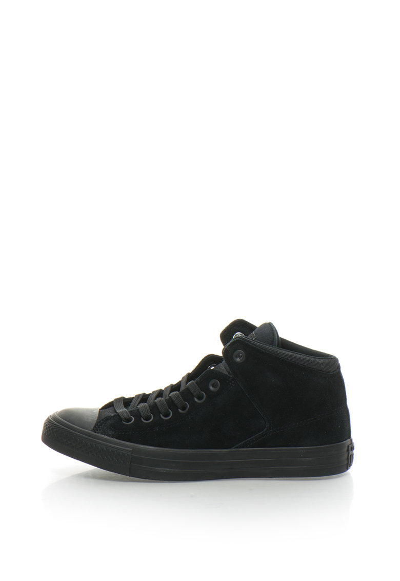Converse Tenisi mid-high de piele intoarsa Chuck Taylor All Star High Street