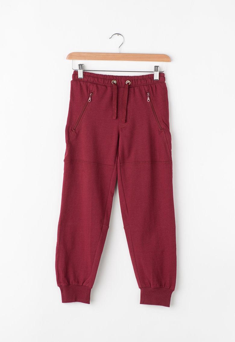 Pantaloni sport cu buzunare cu fermoar de la Zee Lane Kids – PA-I-1800-COTONE-PIOMBO