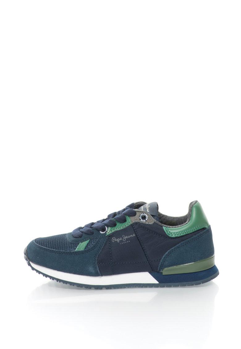 Pepe Jeans Pantofi sport cu garnituri de piele intoarsa Sydney