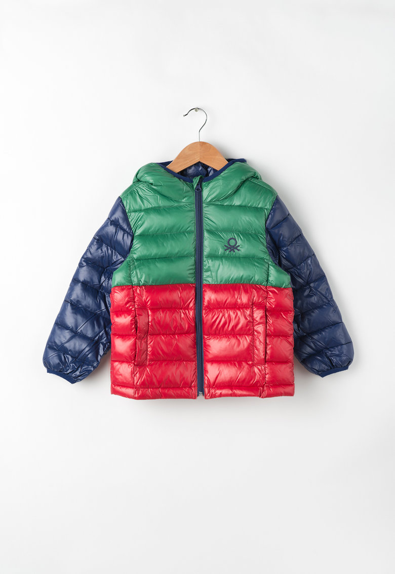 United Colors Of Benetton Geaca colorblock cu vatelina