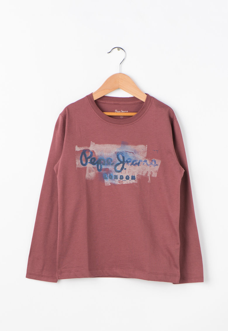 Pepe Jeans London Bluza de bumbac cu imprimeu logo GOLDERS