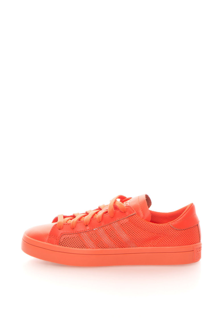 adidas Originals – Pantofi sport din plasa CourtVantagage – Oranj Mandarina