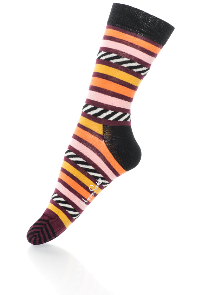 Happy Socks Sosete 3/4 unisex cu model in dungi
