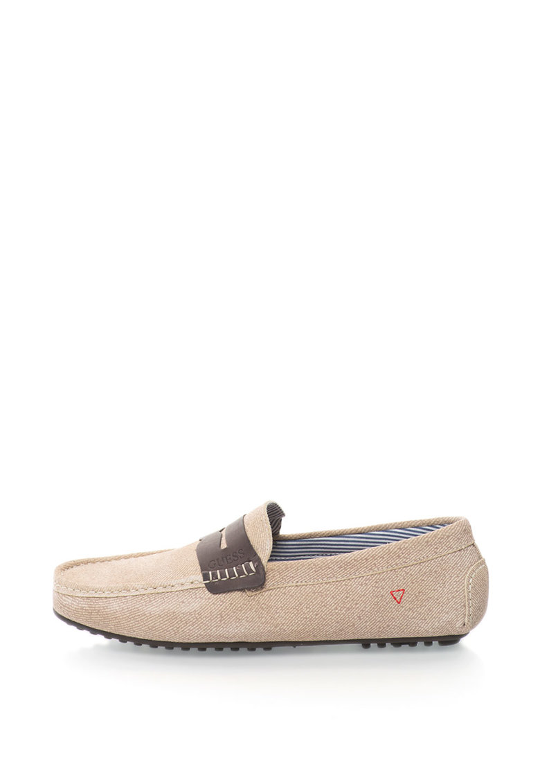GUESS Pantofi loafer in dungi