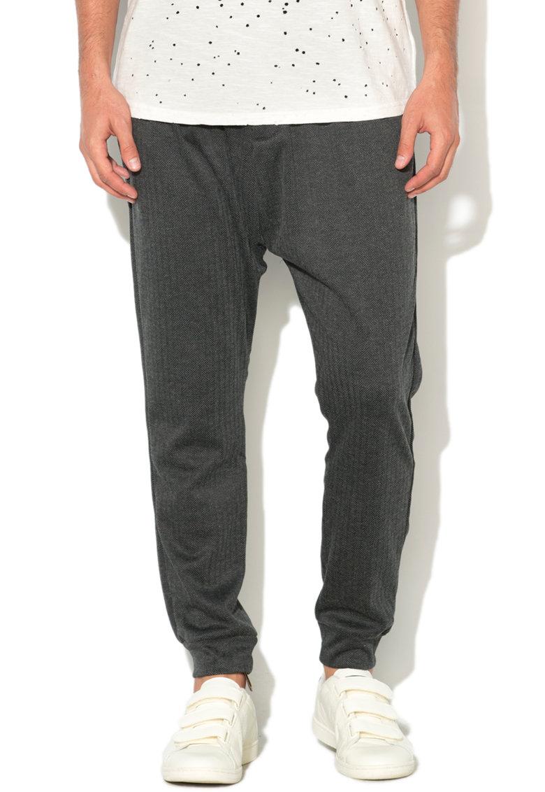 Pantaloni skinny conici cu model herringbone de la Alcott