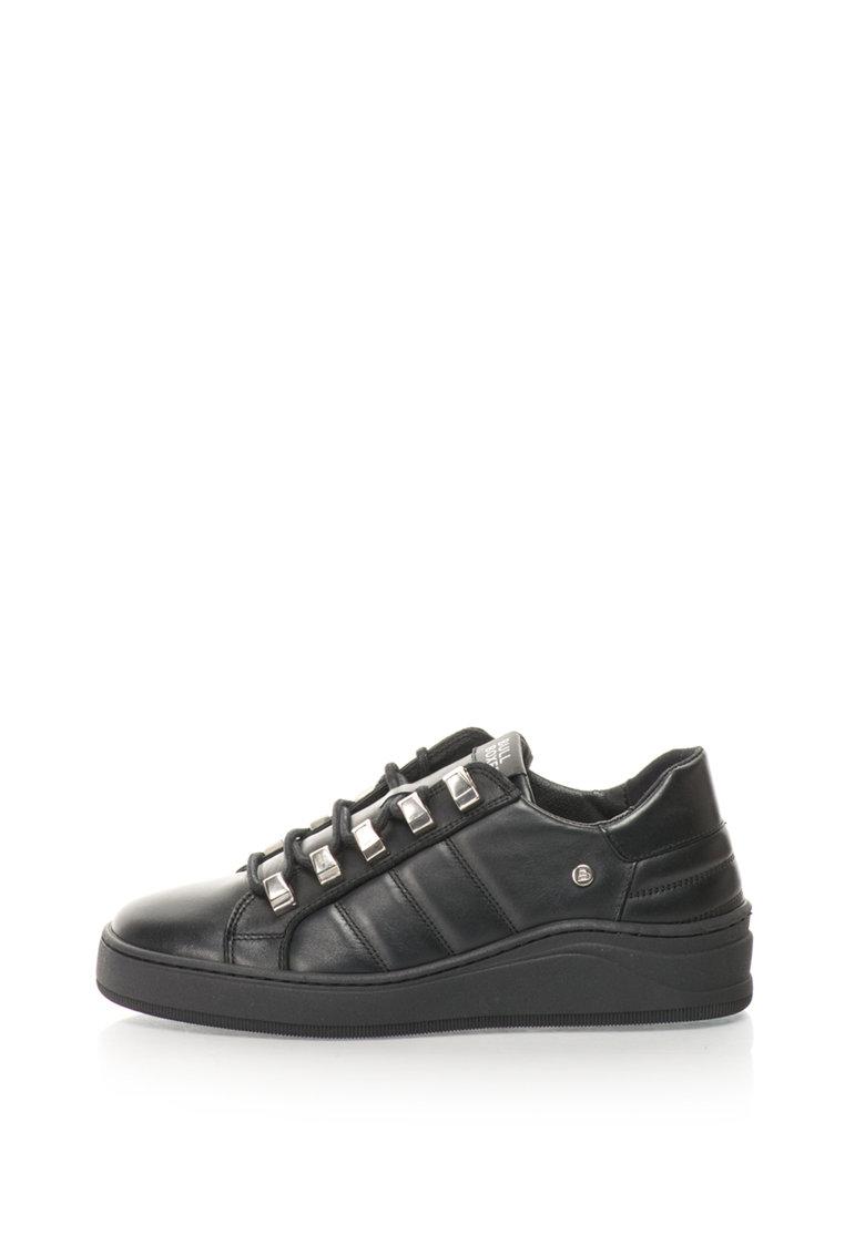 Bullboxer Pantofi sport de piele cu detalii metalice