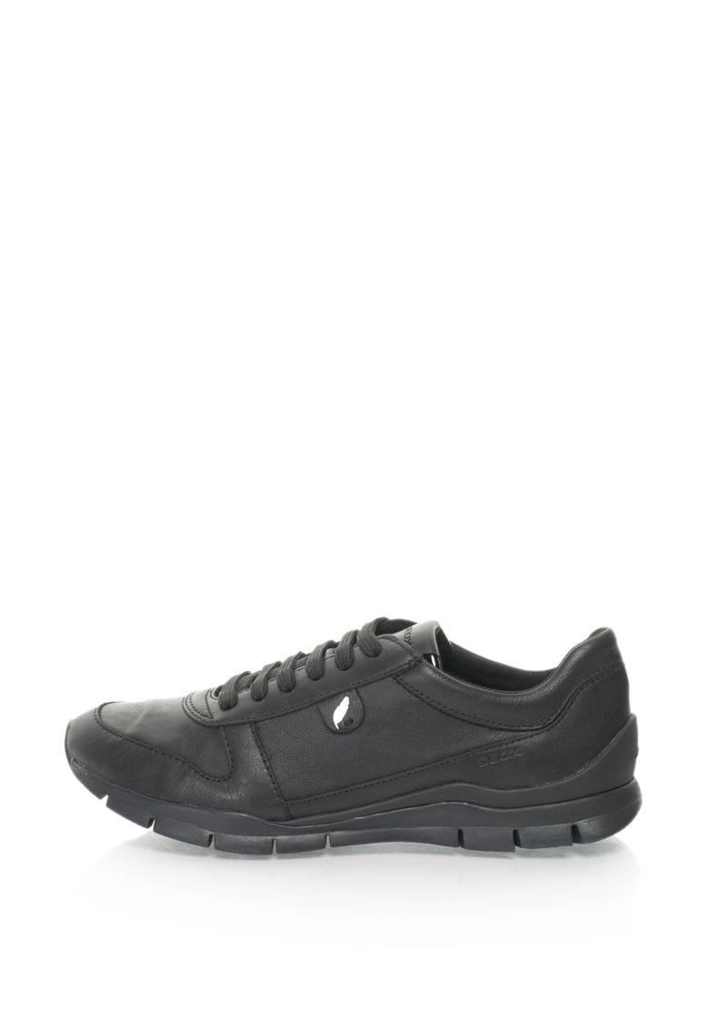 Pantofi Sport De Piele Si Piele Lacuita Sukie
