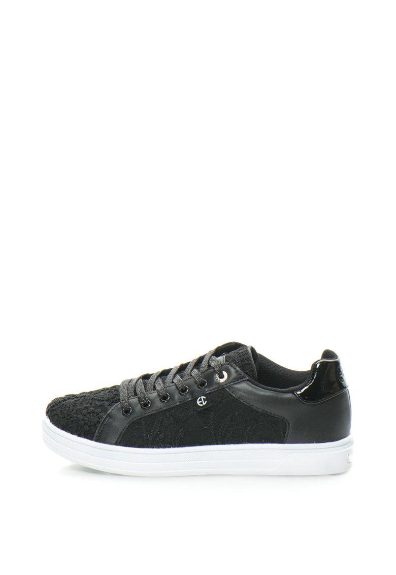 Pantofi sport cu aplicatie de dantela