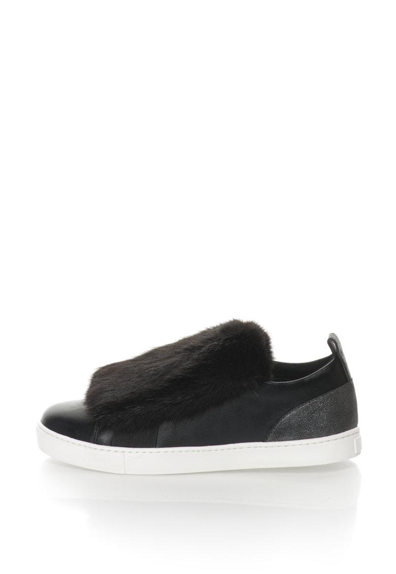 Aldo Pantofi slip-on cu blana sintetica Athelina