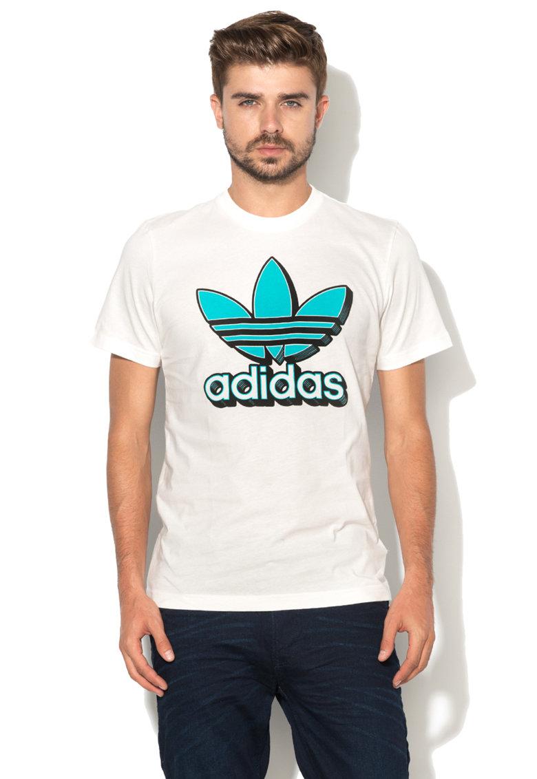 Adidas ORIGINALS Tricou cu imprimeu logo – Alb