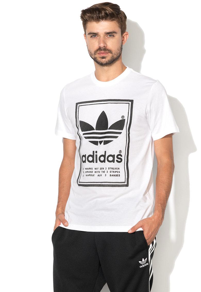 Adidas ORIGINALS Tricou cu imprimeu logo Japan Archive – Alb