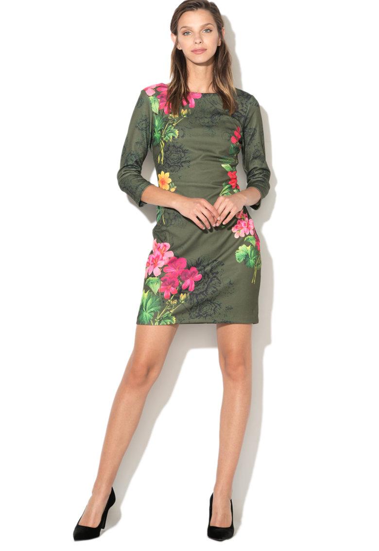 DESIGUAL Rochie bodycon cu model floral Minas
